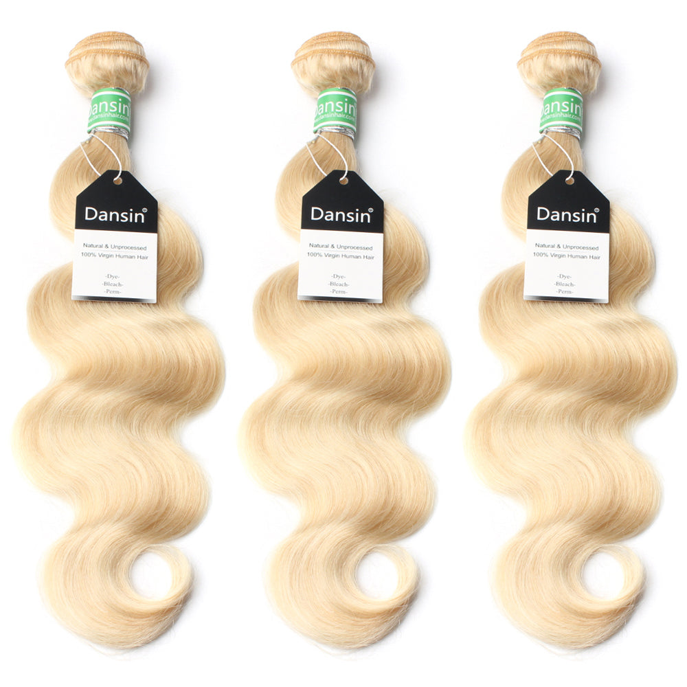 Luxury 10A 613 Blonde Brazilian Body Wave Hair 3 Bundles