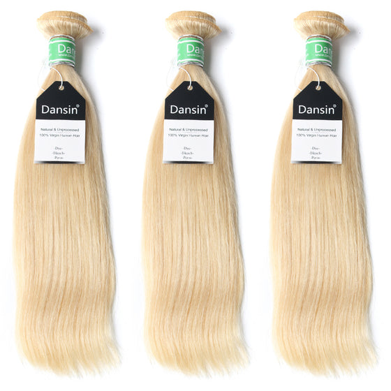 Luxury 10A Brazilian 613 Blonde Straight Hair 3 Bundles