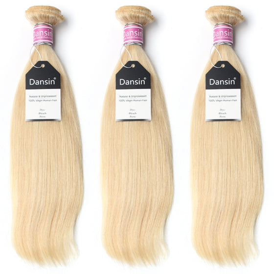 Luxury 10A Peruvian 613 Blonde Straight Hair 3 Bundles