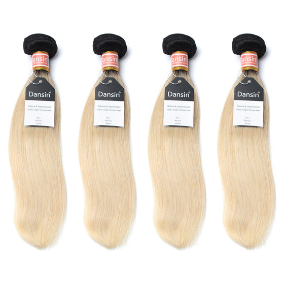 Luxury 10A 1B 613 Blonde Ombre Malaysian Straight Hair 4 Bundles