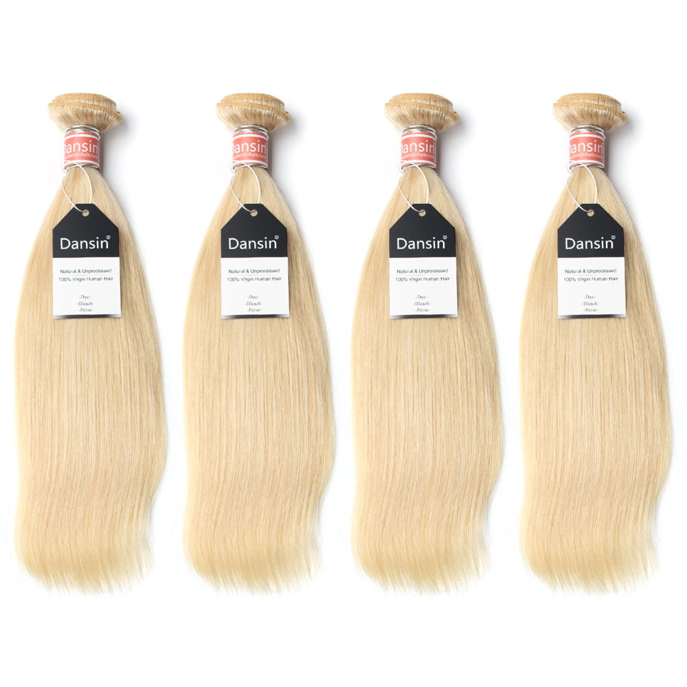Luxury 10A Malaysian 613 Blonde Straight Hair 4 Bundles