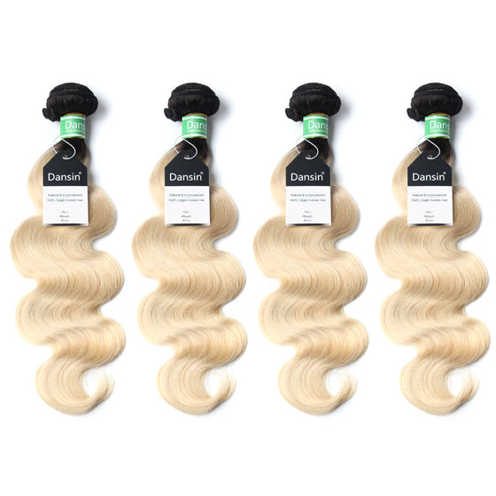 Luxury 10A 1B 613 Blonde Ombre Brazilian Body Wave Hair 4 Bundles