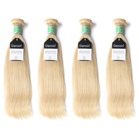 Luxury 10A Brazilian 613 Blonde Straight Hair 4 Bundles