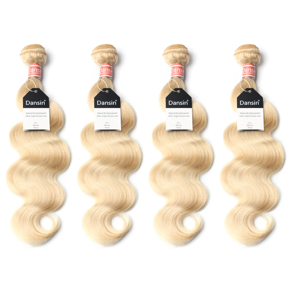 Luxury 10A 613 Blonde Malaysian Body Wave Hair 4 Bundles