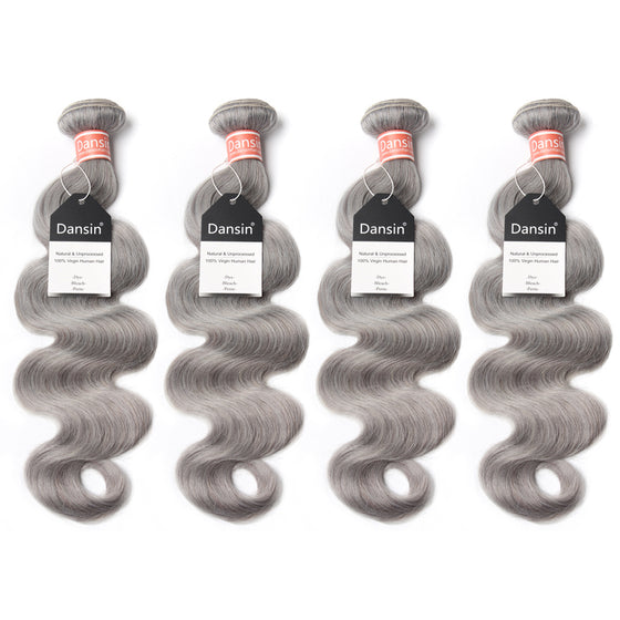 Luxury 10A Malaysian Pure Gray Body Wave Hair 4 Bundles