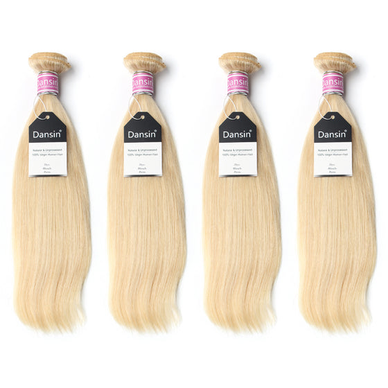 Luxury 10A Peruvian 613 Blonde Straight Hair 4 Bundles
