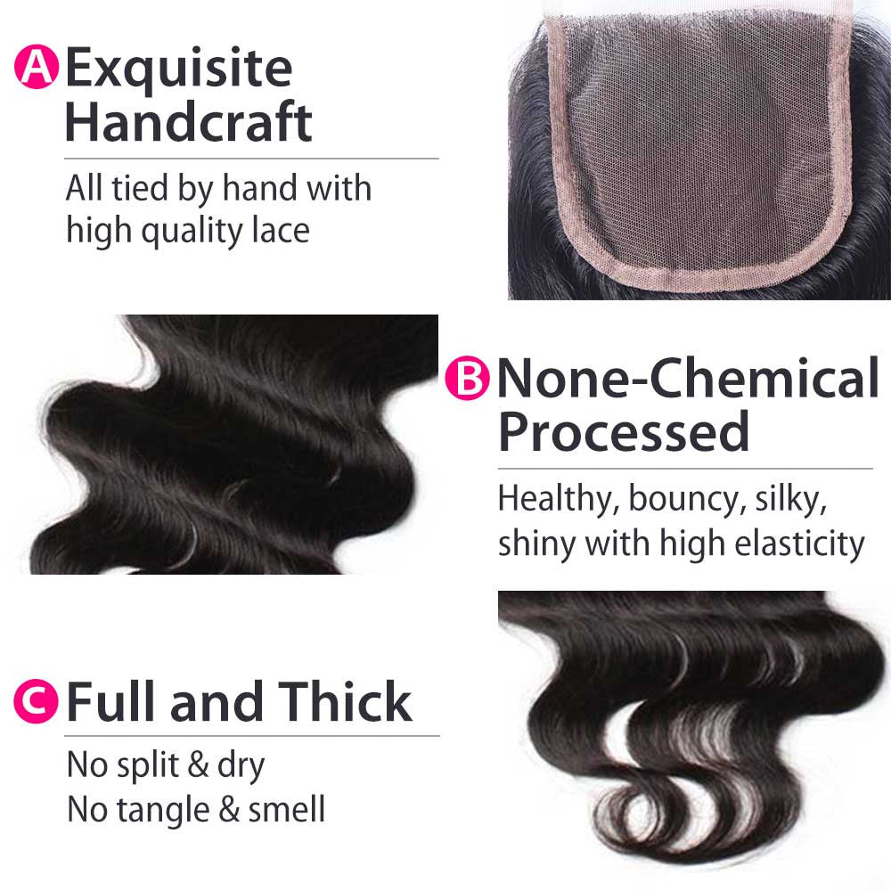Luxury 10A Body Wave Lace Closure Details