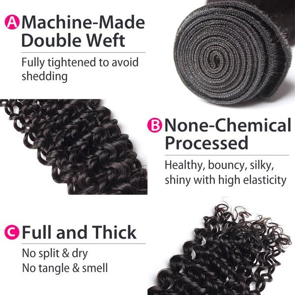 Luxury 10A Brazilian Curly Hair 2 Bundles Details