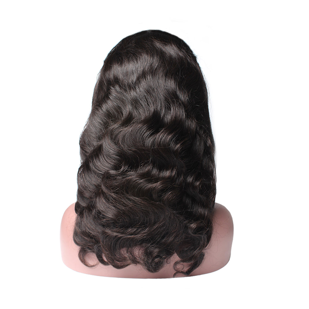 Luxury 130% Density Body Wave Human Hair Full Lace Wigs Back