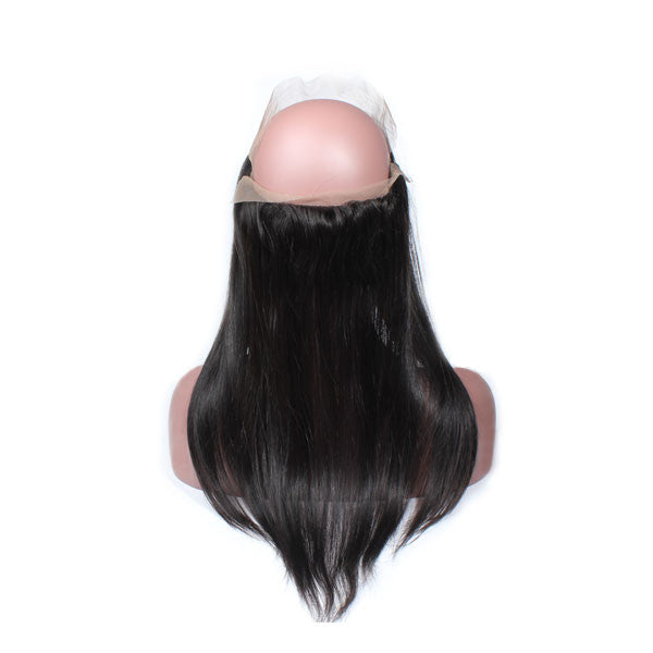 Luxury 10A Straight 360 Lace Frontal Back