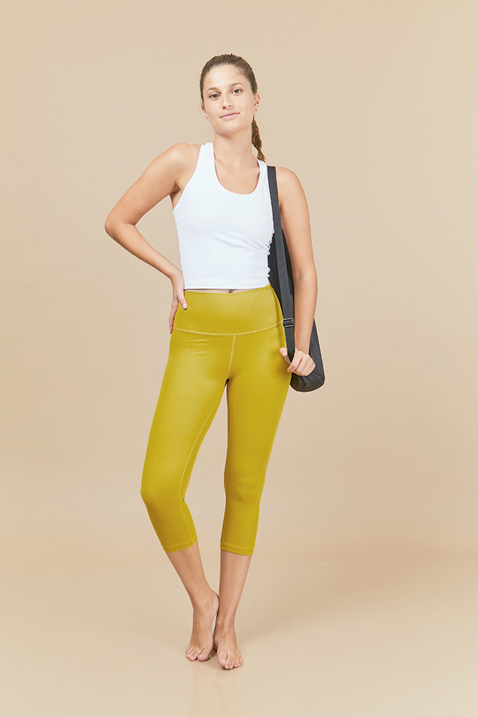 Active Capri in bright yellow (with Pocket)