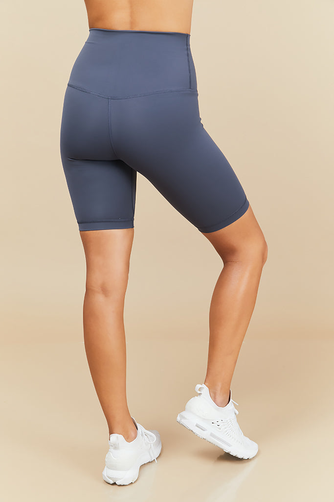 Active Biker Shorts in Dark Blue (with Pocket)