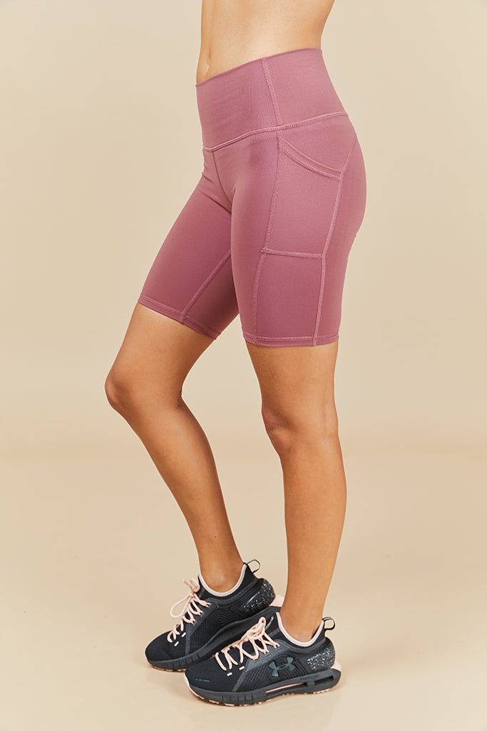 Active Biker Shorts in Hazy (with Pocket)