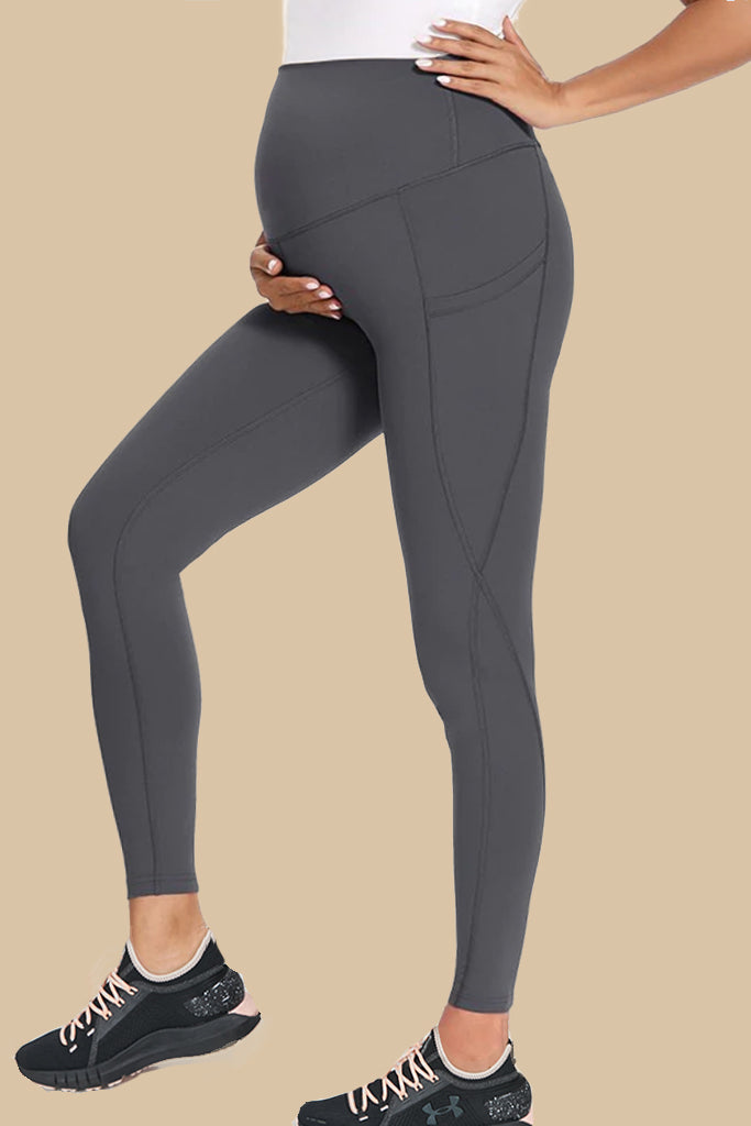 Active Maternity in Gray (side pockets)