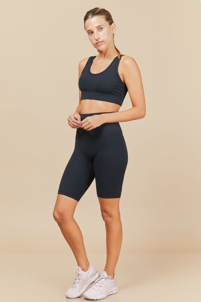 Active Biker Shorts in Black (with Pocket)