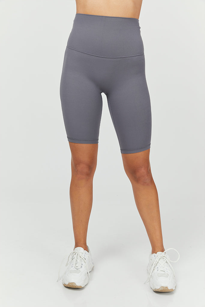 Active Seamless Biker Shorts in Gray