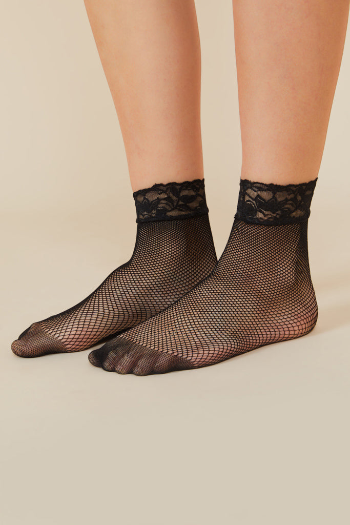 Black Net Socks