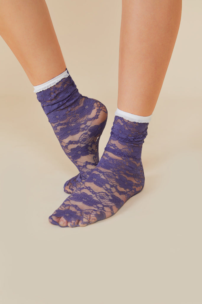 Purple Lace Socks