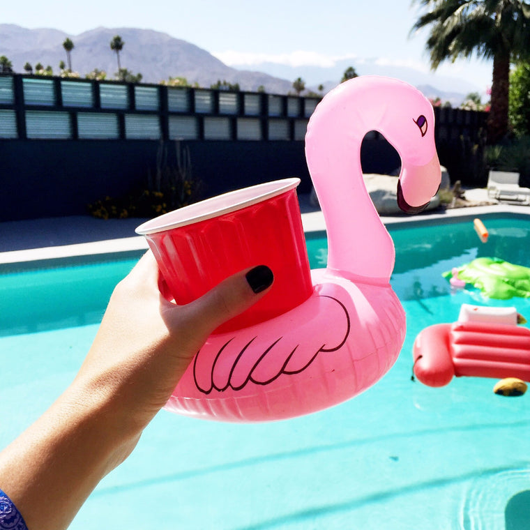 Flamingo cup holder