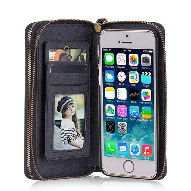 Magnetic Iphone case & wallet with mirror