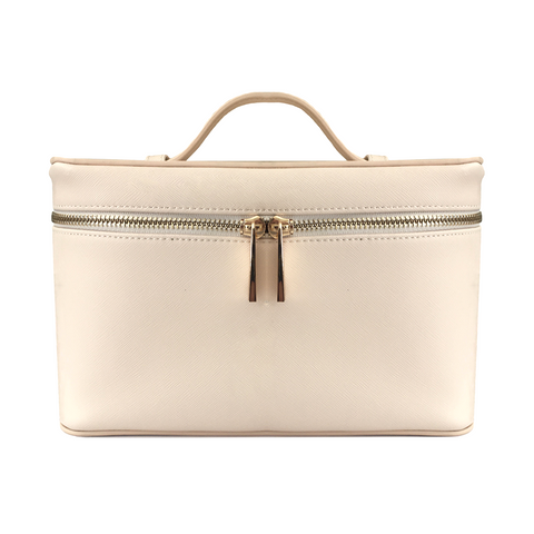 Beige Cosmetic Carry Bag