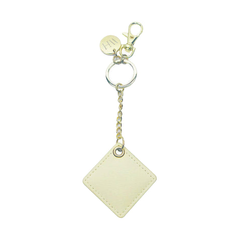 CHATOYER Beige Dangle Bag Charm Key Holder