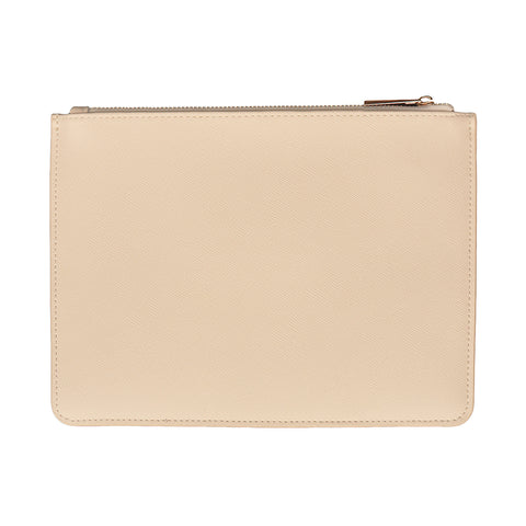 Cream Zip Pouch