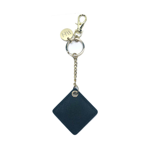 CHATOYER Black Dangle Bag Charm Key Holder