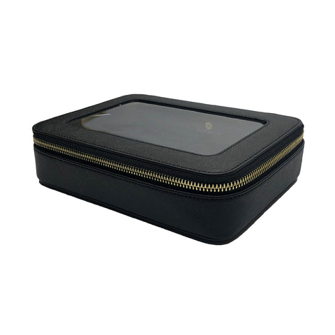 Black Transparent Cosmetic Case