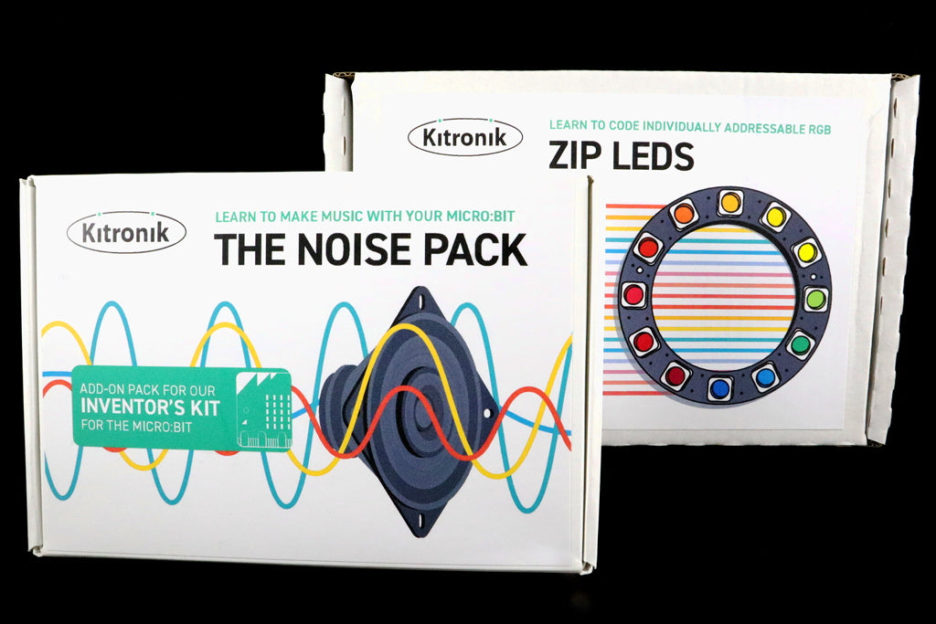 Extend the Kitronik Inventors Kit for the BBC micro:bit With the Kitronik Noise and ZIP LEDs Packs