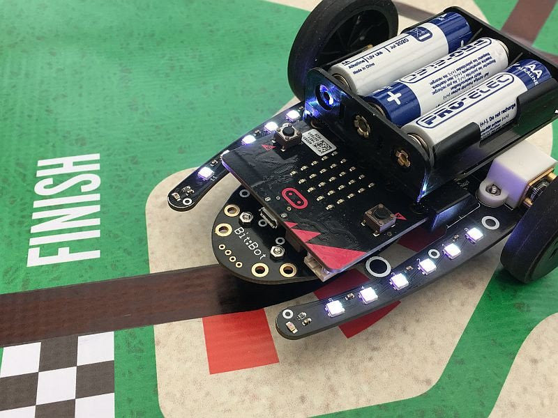 The 4Tronix Bit:Bot BBC micro:bit robot is now in stock in Australia