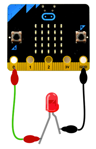 microbit with LED