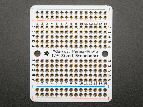 Adafruit Perma-Proto Quarter-sized Breadboard PCB - Single