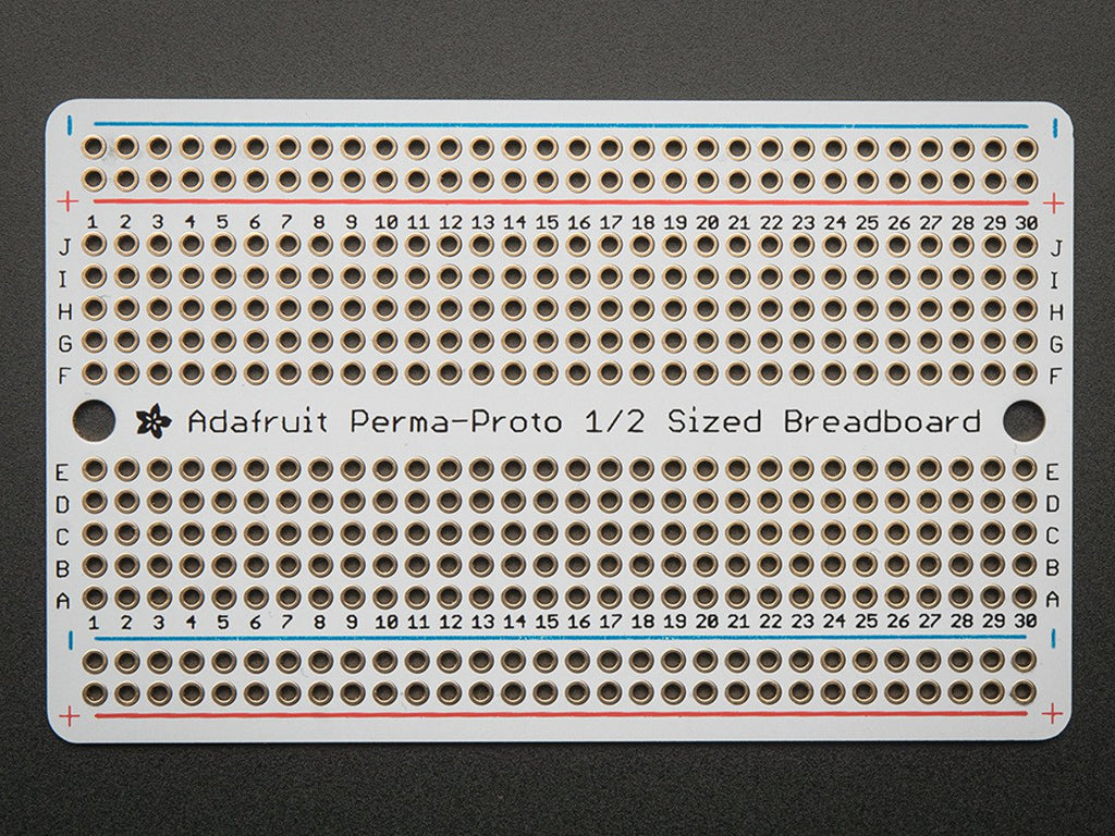 Adafruit Perma-Proto Half-sized Breadboard PCB - Single