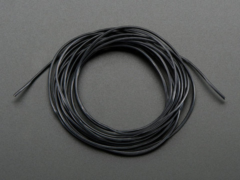 Silicone Cover Stranded-Core Wire - 2m 30AWG Black