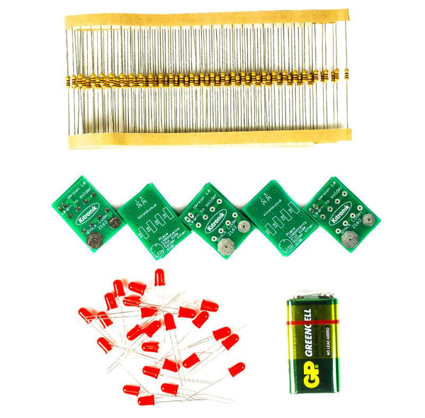 Kitronik Learning to solder LED kit, Pack of 25