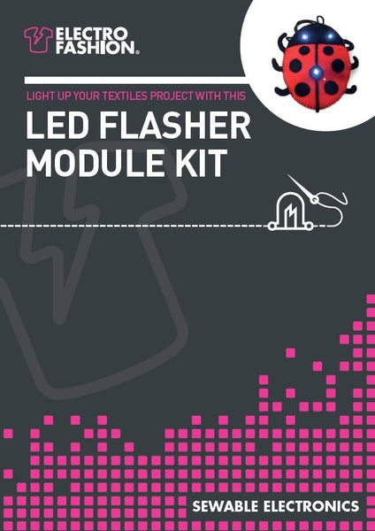 Electro-Fashion Flasher Controller, LEDs & Thread