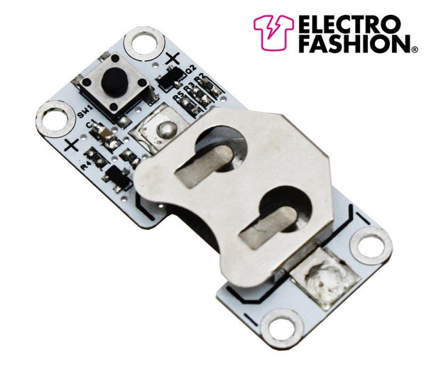 Electro-Fashion, Latching Switch Coin Cell Holder