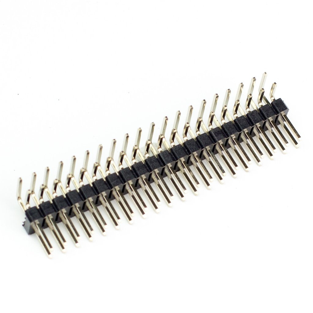 Male 40-pin 2x20 Breakaway HAT Header