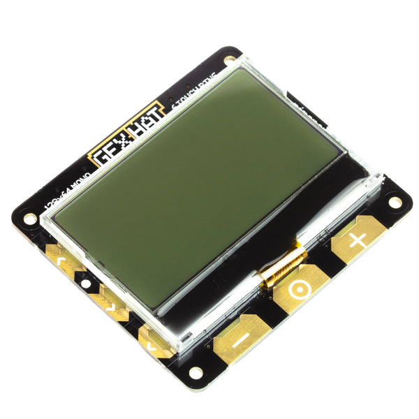 Pimoroni GFX HAT - 128x64 LCD Display with RGB Backlight and Touch Buttons