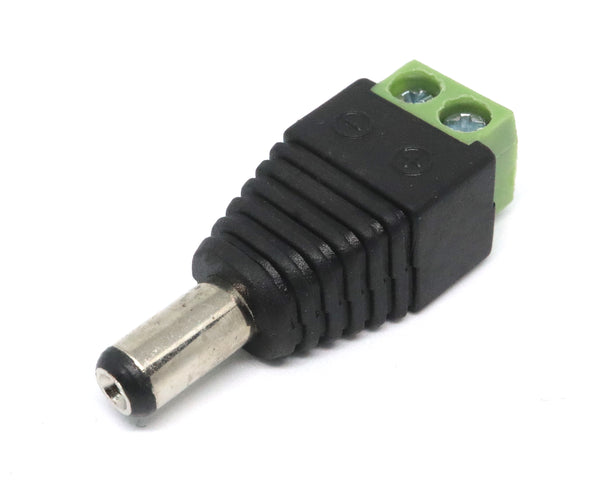 Male DC 2.1mm Plug to Screw Terminal