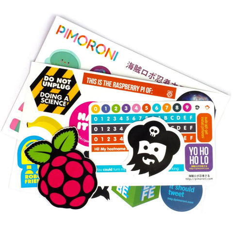 Pimoroni Super Sticker Selection