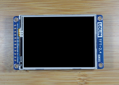 "TFT 2.4 Touch Shield V1.0.0 for LOLIN (WEMOS) D1 mini 2.4"" inch 320X240 SPI Touch Screen ILI9341 XPT2046"