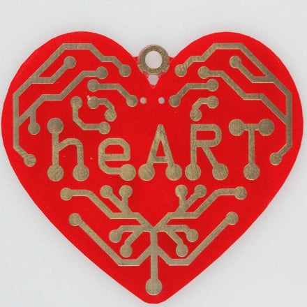 heART - a beating heart surface mount soldering kit