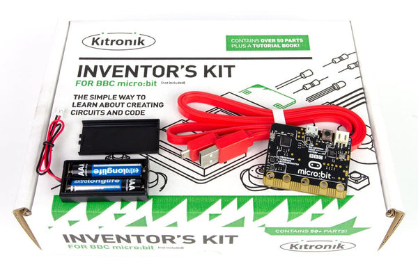 micro:bit Complete Starter Kit, including the Kitronik Inventor's kit
