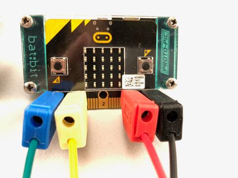 Banana Plug to Alligator Clip Leads for BBC micro:bit (pack of 4)