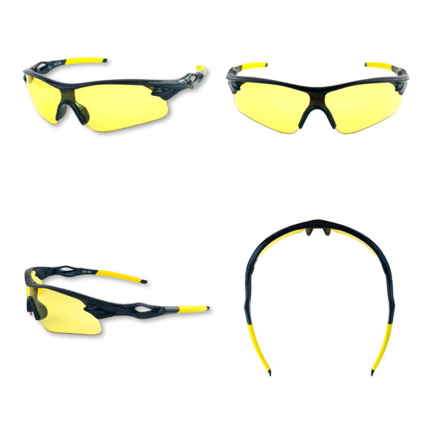 802bba3ee065 Shooting Glasses and UV Flashlight Yellow Safety Glasses by iLumen8 (1 PAIR  with case)
