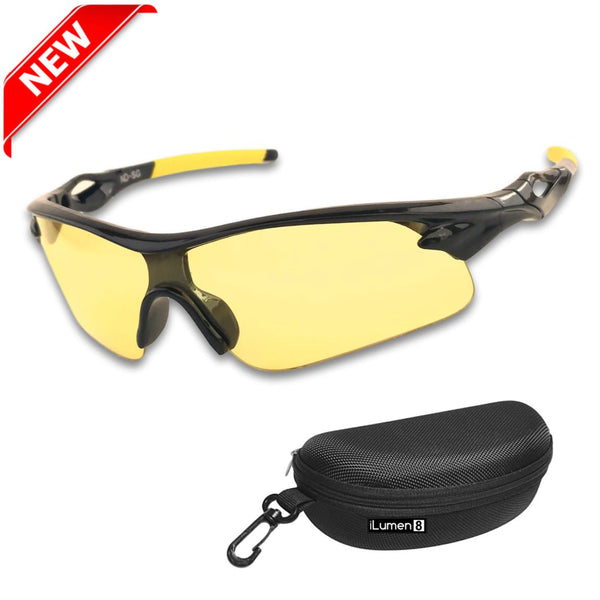 ed7c579af26 HD High Definition Night Driving Glasses- Anti Glare Polarized Night V -  shopiLumen8