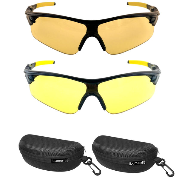 9865277cb8f (2 pair combo) HD Polarized Night Driving Glasses    Pale Yellow  Night  Vision Glasses