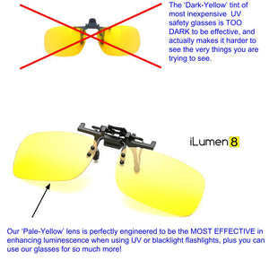 Shooting UV Safety Glasses Clip-On Fit Over Prescription